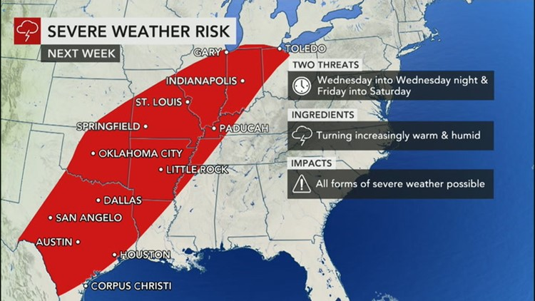 Increasing risk of severe thunderstorms