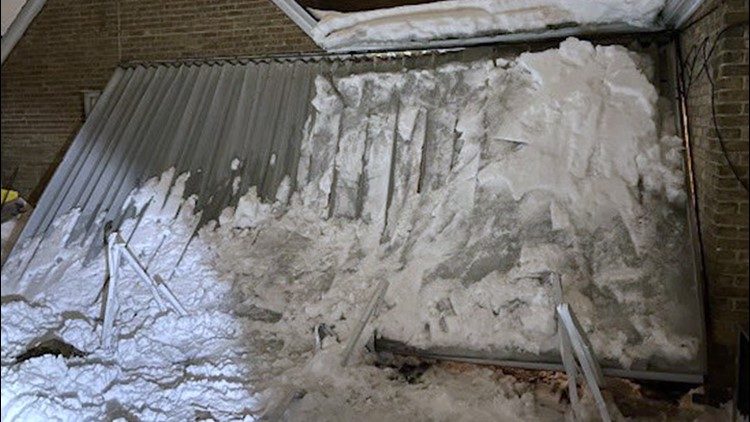Woman rescued from icy canopy collapse in Chicago suburb