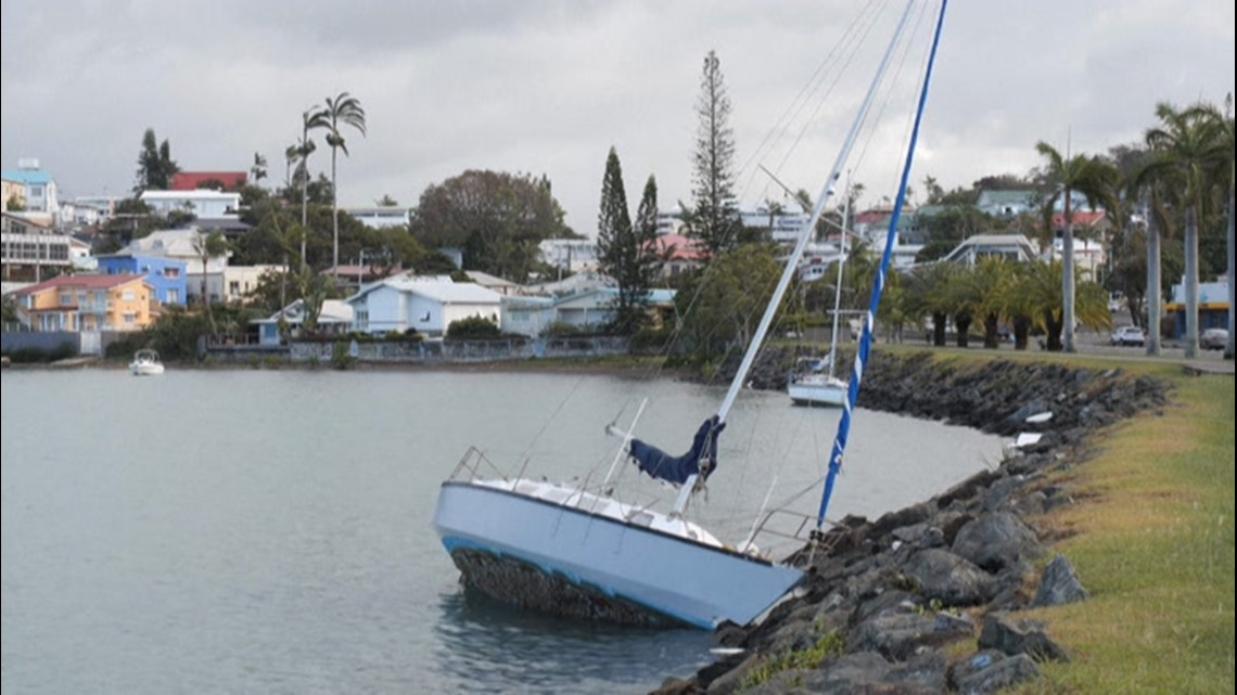 Clean-up underway in New Caledonia after Niran