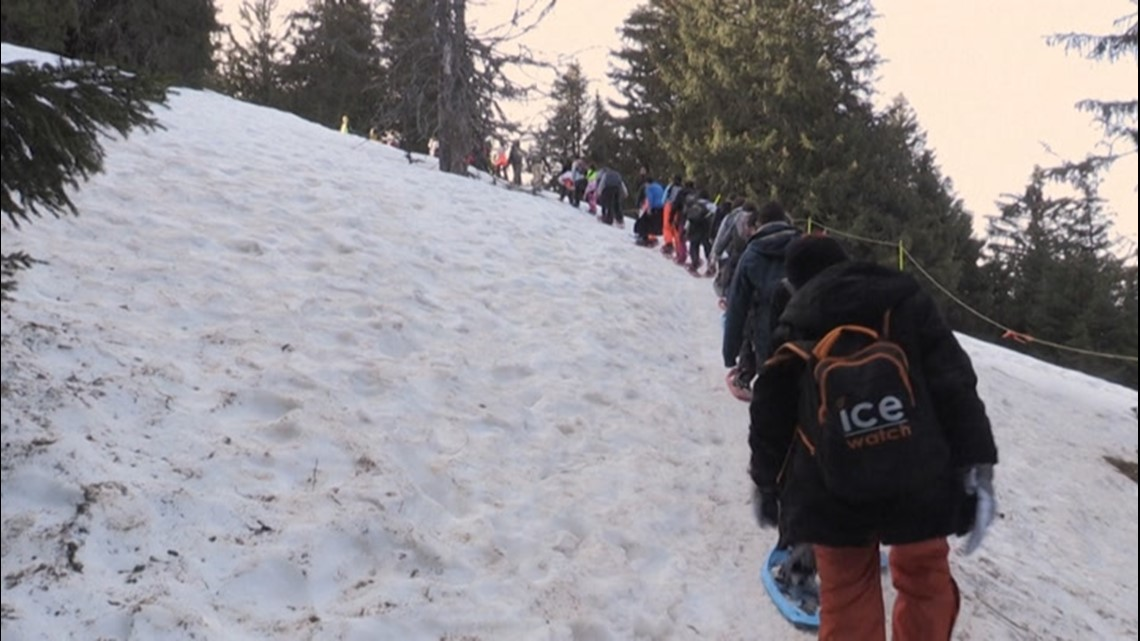 French school holds gym class in the mountains amid COVID closures