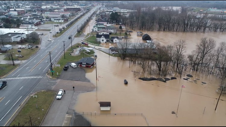 West Virginia homes underwater as flooding continues