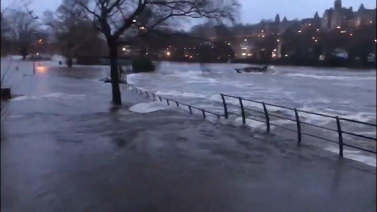 Irish city flooded during heavy rain