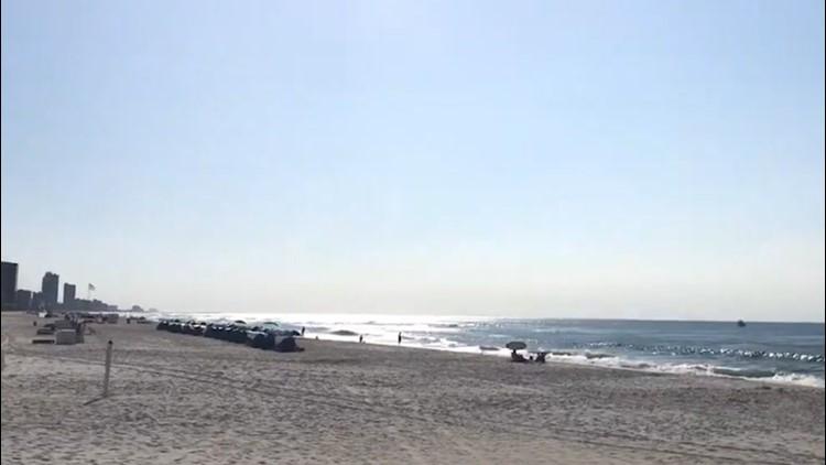 A sunny spring beach