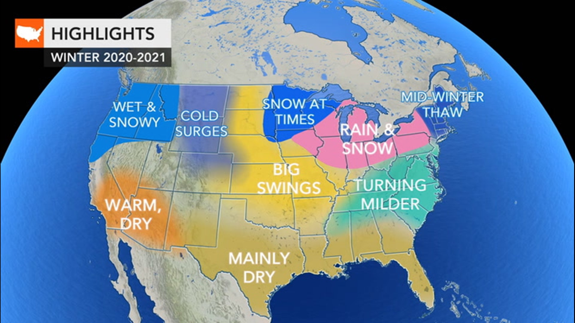 White Christmas Forecast 2020 Usa Winter is coming; here's the winter weather forecast for around