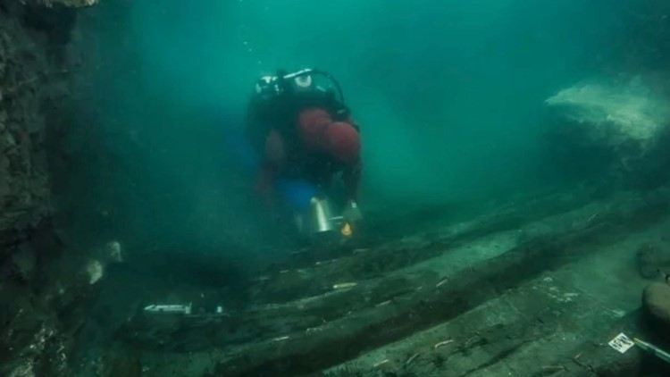 Ancient Egyptian Ship Discovered Buried in Sunken, Underwater City