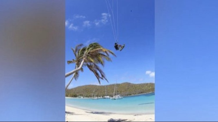 Insane Video Shows Kitesurfer Launching Himself From a Coconut Tree