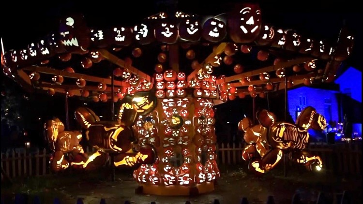 Must See! The Great Jack O' Lantern Blaze Features Insane Sculptures Using More Than 7,000 Pumpkins