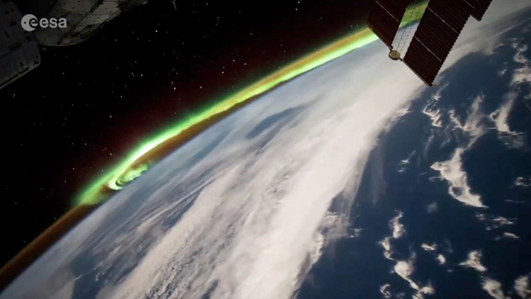 Light It Up! Astronaut Captures the 'Southern Lights' Aboard the ISS!