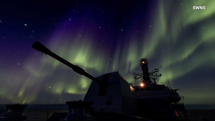 Navy Ship is Treated to a Light Show From Mother Nature