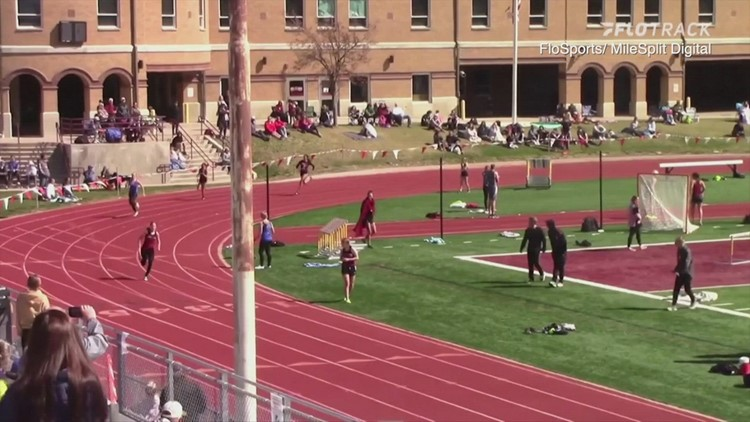 Dog breaks loose from owners and wins relay race at track meet