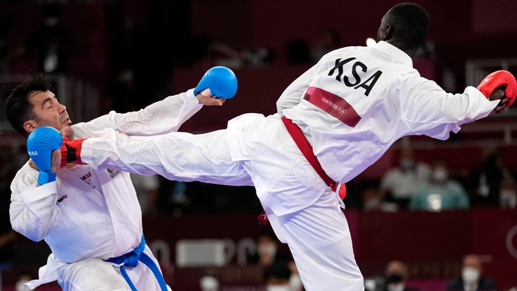 Karate Olympian knocked unconscious wins gold medal after disqualification