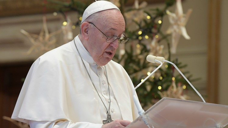 Pope on Christmas urges officials to make COVID-19 vaccine available to all