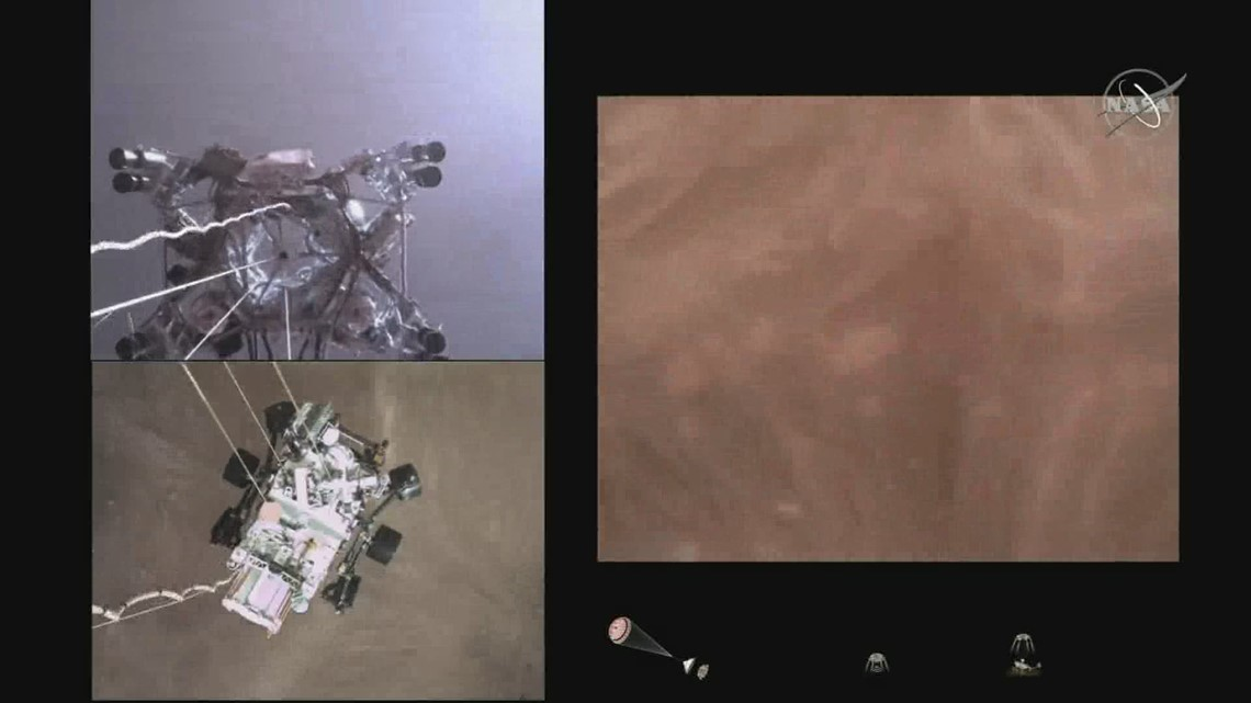 FULL VIDEO: First-of-its-kind video of NASA rover landing on Mars