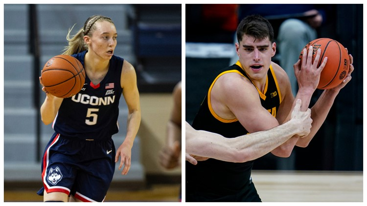 UConn's Bueckers, Iowa's Garza named Naismith college players of the year
