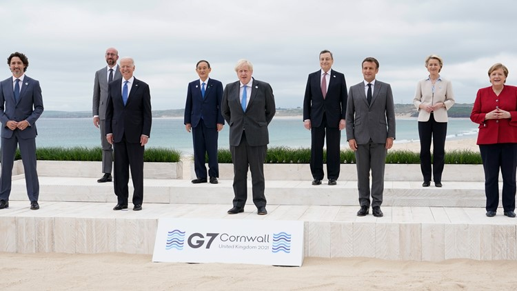 G-7 leaders agree on vaccines, China and taxing corporations