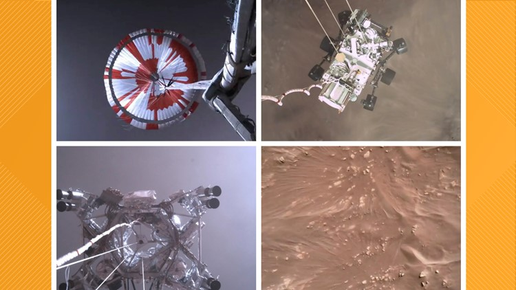 NASA captures first sounds on Mars, remarkable video of rover landing