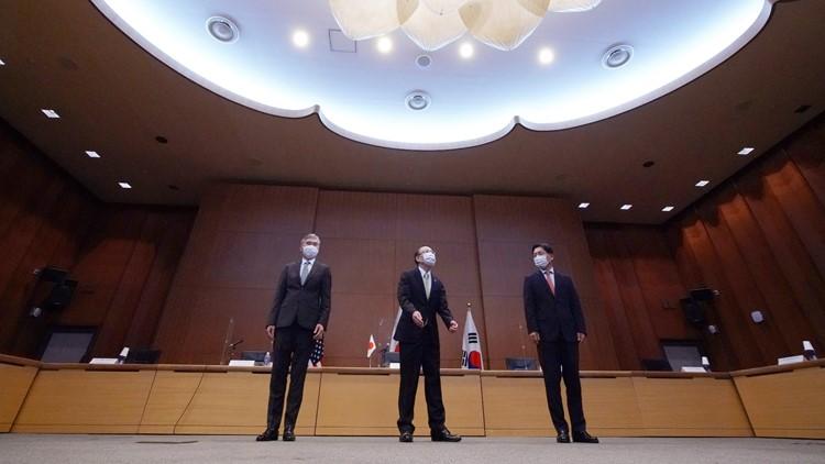 Japan, US, South Korea call on North Korea to return to arms talks