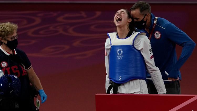 Zolotic earns US its first gold in women's taekwondo