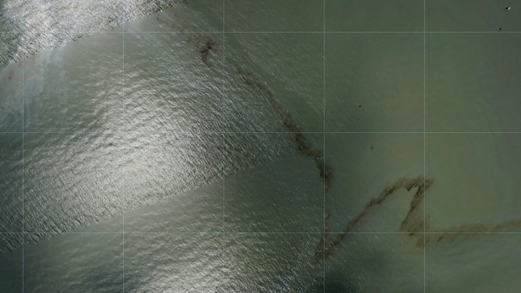 Photos show black slick in water near Gulf oil rig after Ida