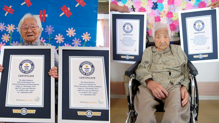 Japanese sisters certified as world's oldest twins at 107