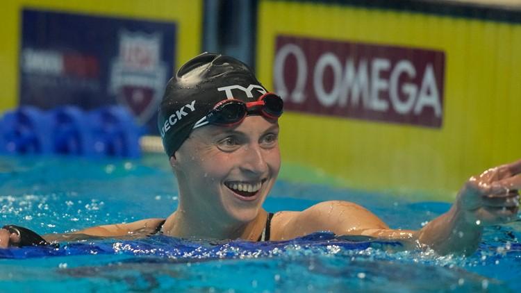 Dressel, Ledecky romp to wins at US Olympic swim trials