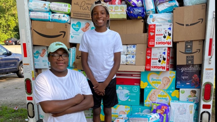 'It fills my heart' | 11-year-old on a mission to provide diapers to families in need