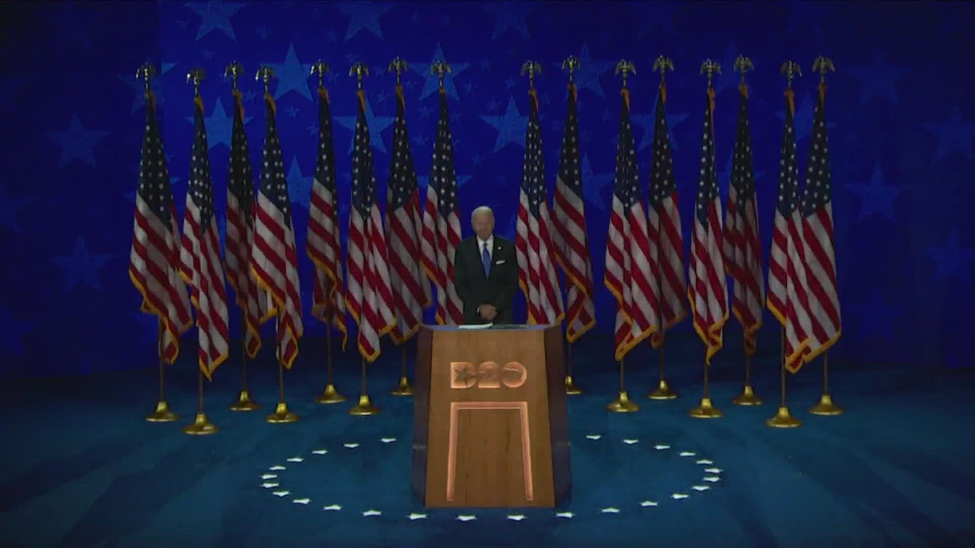 Joe Biden Accepts Democratic Presidential Nomination Urges Unity Wnep Com
