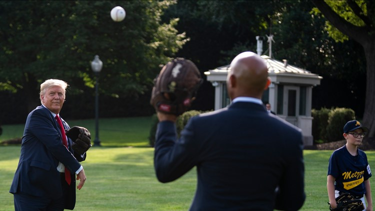 President Trump now says he won't throw first pitch at Yankees game