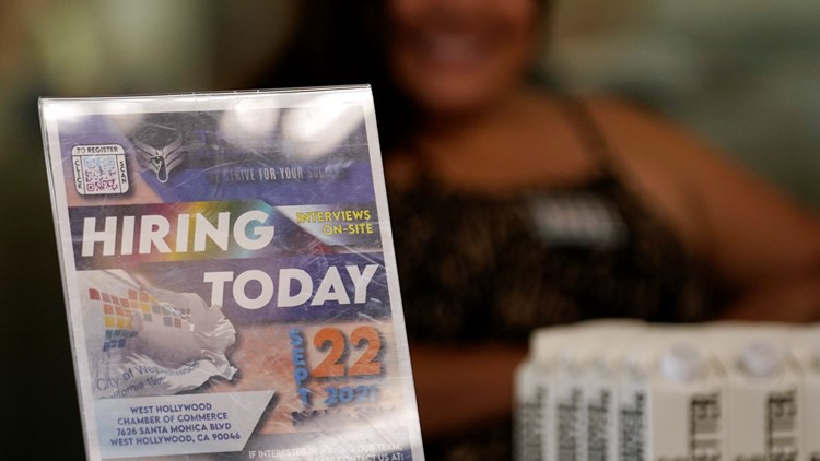 US unemployment claims fall to new pandemic low of 290,000