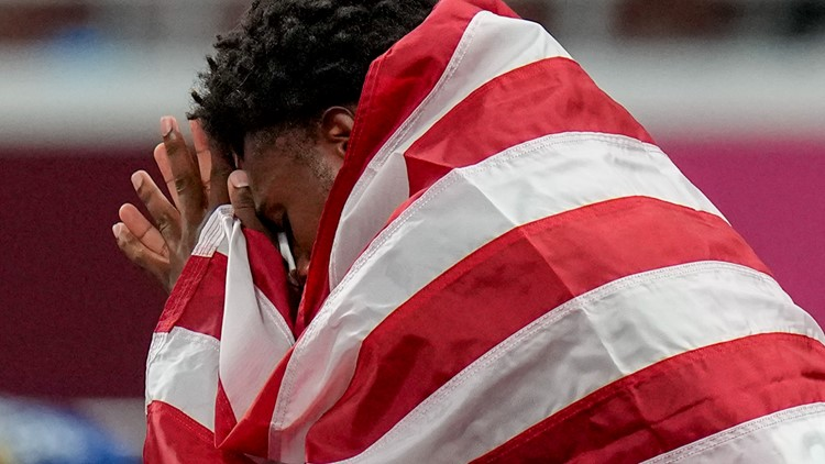 Tears from Noah Lyles at Olympics about more than just 200-meter finish