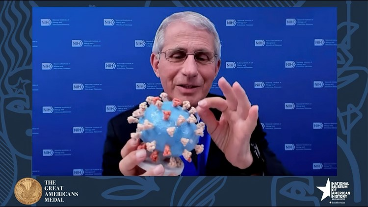 Dr. Fauci presents his personal coronavirus model to Smithsonian