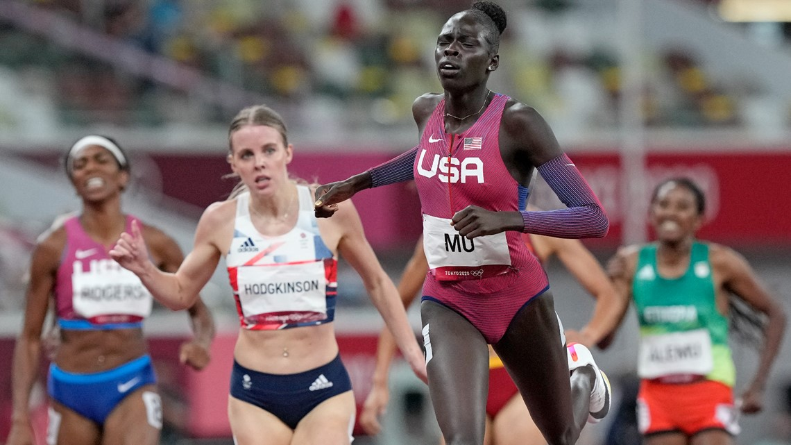 US teen Athing Mu wins women's 800 meters for first gold medal