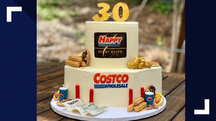 Peachy Bakers Amazing Costco Birthday Cake Includes Samples Churros Funny Birthday Cards Online Alyptdamsfinfo