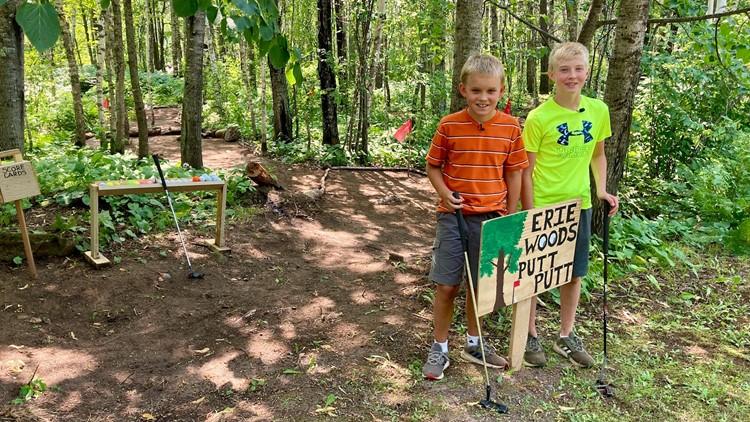 2 Minnesota boys build mini-golf course in the woods