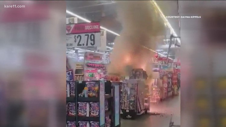 Police: Juveniles light fireworks display in Minnesota Hy-Vee, cause fire