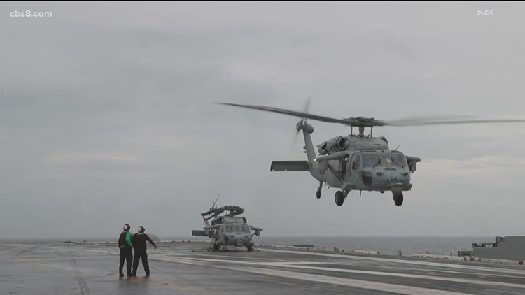 Navy confirms details about helicopter crash off San Diego coast
