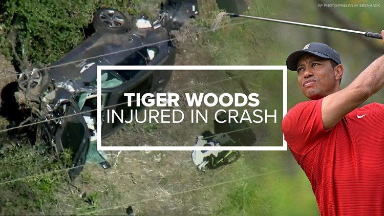 Tiger Woods suffers 'multiple leg injuries' in rollover vehicle crash