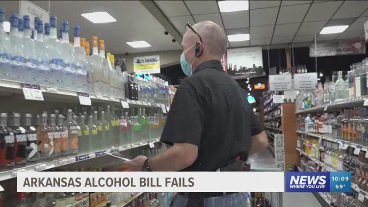 Arkansas alcohol delivery bill fails