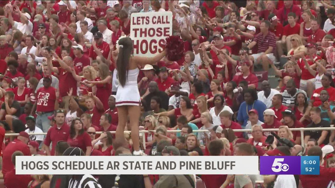 Hogs scheduled to play Arkansas State and Pine Bluff