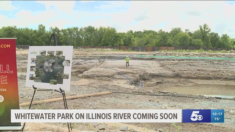 Construction underway for WOKA Whitewater Park on Arkansas, Oklahoma border