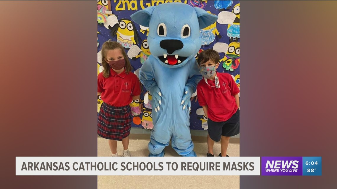 Diocese of Little Rock says all Catholic elementary schools will require masks this fall