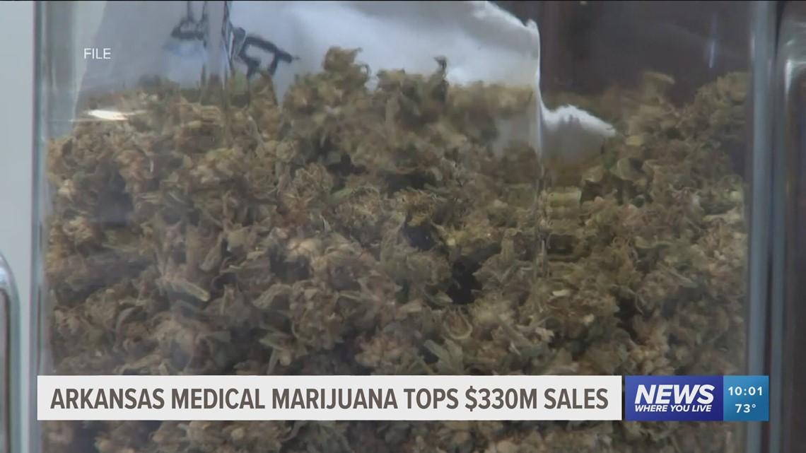 Why does Oklahoma have more medical marijuana dispensaries than Arkansas?