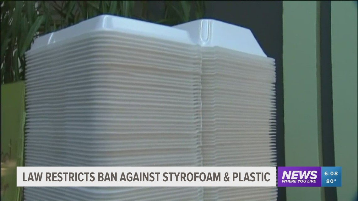 New Arkansas law disallows cities from banning use of Styrofoam & plastic bags