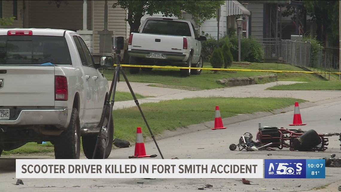 Accident claims life of scooter driver in Fort Smith