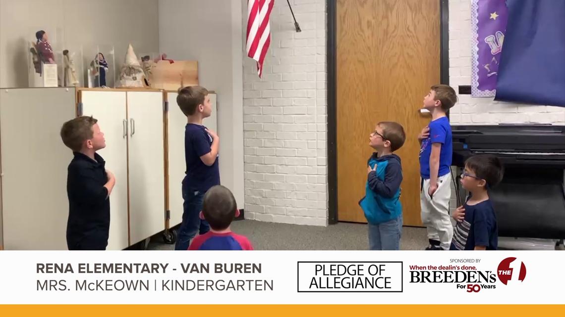 Mrs. McKeown's Kindergarten Rena Elementary, Van Buren