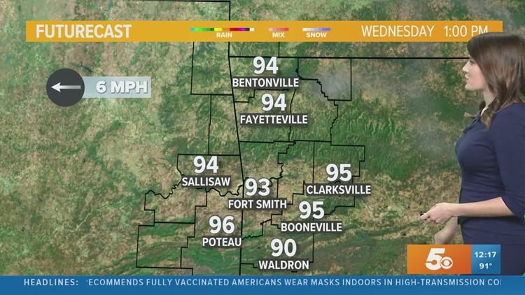 Temperatures will keep climbing by the end of the week