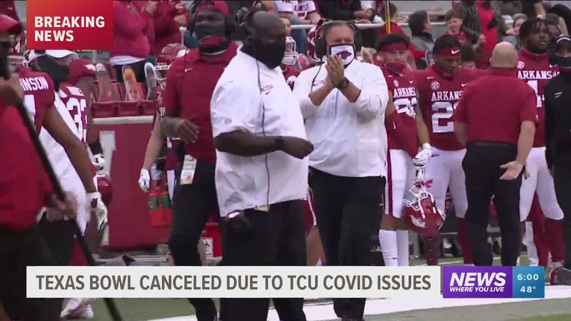 Arkansas season ends as Texas Bowl is canceled