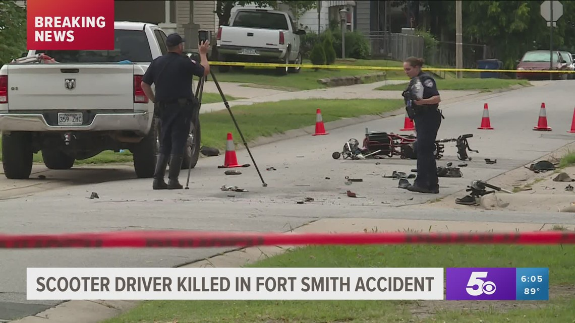 Scooter driver killed in Fort Smith accident