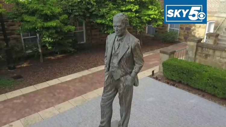 UA Chancellor recommends moving Fulbright statue, retaining name on College of Arts and Sciences