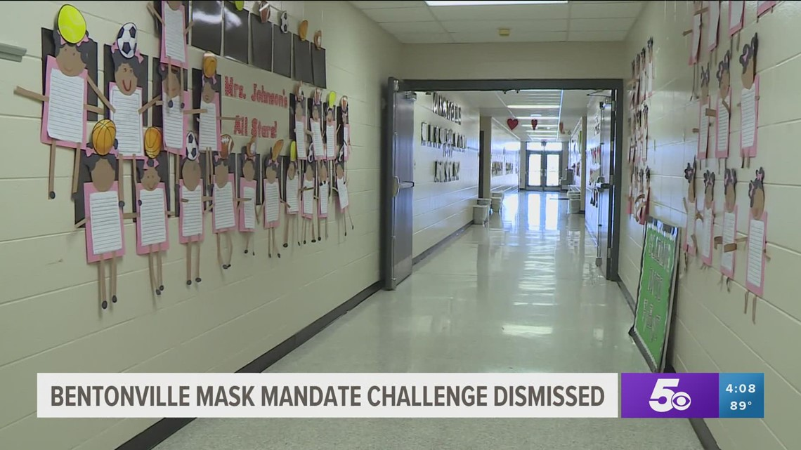 Lawsuit over Bentonville School District's mask mandate dismissed